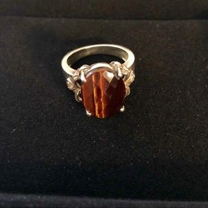 Sterling Silver and Tigers Eye Ring, size 9